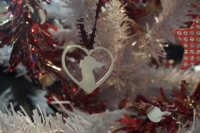 Samoyed  in your heart  Christmas Decoration  brass copper or aluminium